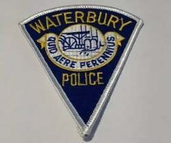 Waterbury Connecticut Ct Police Patch Vintage