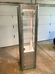 X-metal Tower Sunglasses Display Case W/ Light 72x19 Vintage Collectors
