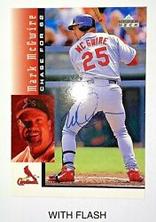 1998 Upper Deck Mark Mcgwire Signed Chase For 62 25 Cardinals Baseball Card