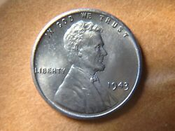 Uncirculated 1943-p United States Steel War Penny One Cent Lincoln Wheat Coin L