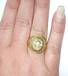 Lovely Vintage 10kt Solid Yellow Gold Paratrooper U.s. Army Ring Size 8.75
