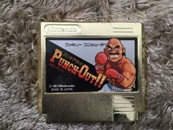 Nintendo Punch Out Gold Cartridge Famicom Japanese Ntsc-j Game From Japan F/s