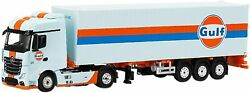 True Scale Mini Gt 1/64 Mercedes Benz Actros 40ft Container Gulf Included Left