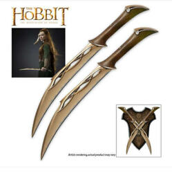 UC3044 Fighting Knives of Tauriel HOBBIT LOTR OFFICIALLY LICENSED NEW