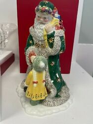 Mint Waterford Holiday Heirlooms Letter To Santa Cookie Jar W/box Christmas Rare