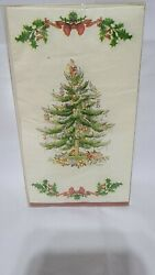 Spode Christmas Tree 2006 Creative Papers 3 Ply Napkins 40 Count Guest Towels
