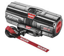 Warn 101130 Axon 3500-s Winch With Synthetic Rope