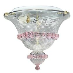 Chandelier A Plafoniera Glass Of Murano Authentic Clear And Color