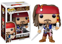 Funko Pop Pirates Of The Caribbean With Box Captain Jack Sparrow Figure Toys