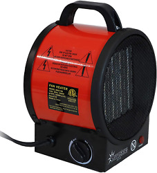 Sunnydaze Portable Ceramic Electric Space Heater - Indoor Use For Home And Offic