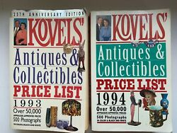 2 Kovels Antiques And Collectibles Price List Paperback Books 1993 And 1994