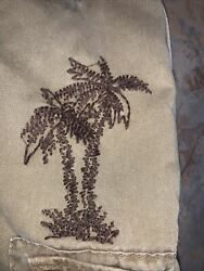 American Eagle Outfitters Mens Size 34-36 Palm Tree Cargo Shorts Unique