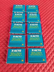 10 Packs Of 100-1000 X-acto Blades11precision Point Xacto X-611 For Hobby Knife