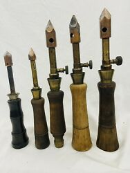 A Lot Of Five Very Rare Soldering Iron Blow Torch.patent Pending Only.
