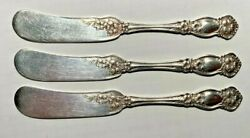Wm Rogers And Son Orange Blossom Individual Butter Spreader 3 Available Sold Each