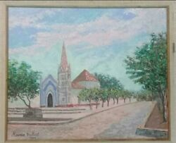 Super Rare - Antique Oil Canvas Painting, Manner Of Maurice Utrillo - Signed.