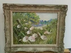 Antique Oil Canvas Painting Signed P. Salinas / Framed / Real Antique
