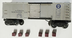 Lionel Operating Merchandise Car 3454 With 6 Cubes. Free Shipping