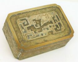 Exquisite Chinese Trinket Snuff Cigarette Box Signed T.h. Wu China Silver Rare