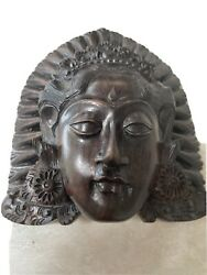 Vintage Chinese China Handcarved Wood Wooden Mask