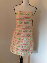 Lilly Pulitzer Strapless Embroidered Olie Dress, Size 2, New W/tags