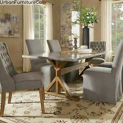 Glam Stainless Steel Metal Dining Table Kitchen Dining Room Breakfast Furniture