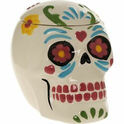Skull Cookie Biscuit Jar Halloween Or Gothic Home Decoration Ornament New