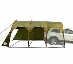 Family Camping Tunnel Tent Top Canopy Cover 15ft X 10ft For Car Trailer Bbq Wate