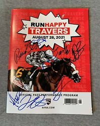 2021 Runhappy Travers Saratoga Official Race Day Program Signed By All Jockey 1