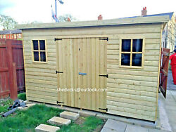 Shed Pent Garden Outdoor Workshop Tool Store Heavy Duty Tanalised Bike Store Tandg