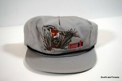 Vintage Case Ih Tractor Peasant Embroidered Snap Back Hat K-products Grey Osfa