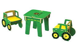 John Deere Kids Table And Chairs, Set Size Harvest Toy Buildex Jd Farm
