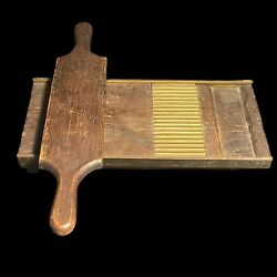 Antique Wood Brass Pill Roller 324 Druggist Pharmacy Apothecary Pill Rack