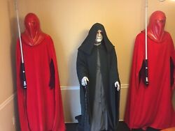Life Size Emperor Palpatine And Royal Guards W/ Lighted Display Base