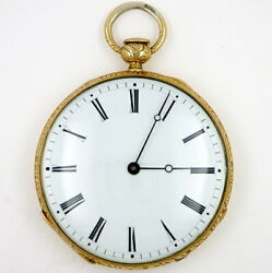 Antique Gold Pocket Watch, 19th Century Swiss, With Quarter Repeat