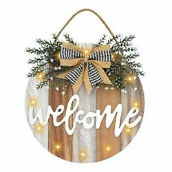 Auing Welcome Sign Front Door Decor Farmhouse Front Porch Decor Wooden Wall S...