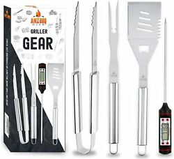Barbecue Accessories And Grilling Tools 4 Piece Set Premium Quality Grill Utensils