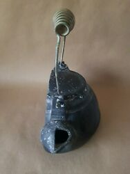 Rare Antique Cast Iron Tea Pot Room Humidifier Flat Back Fits On Fire Place