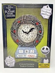 New Disney The Nightmare Before Christmas Countdown Table Clock