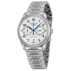 Longines L2.629.4.78.6 Master 40mm Menand039s Chronograph Stainless Steel Watch