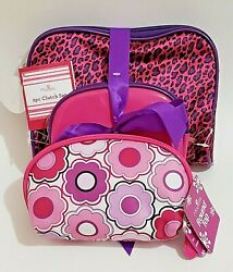 Set of 3 New Modella Make Up Toiletry Travel Bags Pink and Black $9.00