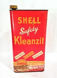 Vintage 1920's Shell Oil Kleanzit 1 Gallon Slim Advertising Can Sign Rare One