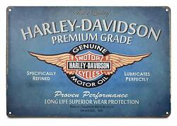 Harley Davidson Metal Signs Wall Plate 12 X 8 Inch Tin Sign Vintage ..