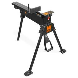 Universal Clamping Saw Horse Foldable Non-marring Jaws Foot Pedal Steel-frame