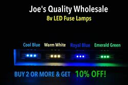50cool Blue Fuse Lamp Leds 8v-audio/receiver/sx-626 525 424 828 636 Pioneer