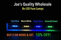 Buy50get6free Led 8v-fuse Lamp/color Choice -sx-535 636 828 727 626/pioneer
