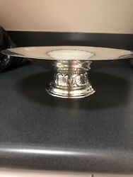 41.8 Troy Oz Hammered Sterling Bowl/compote Exceptional Condition