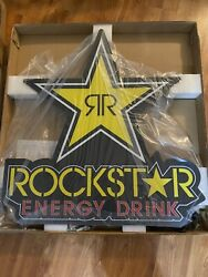 """New Rockstar Energy Drink Led Sign 30.3"""" X 32.28"""" Brand New In Box Man Cave"""