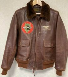 Buzz Rickson's Flight Jacket 20th Limited An-j-3a Rare Size L Brown Authentic
