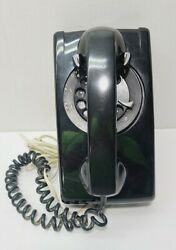 Vintage Old Black Bell System Western Electric 554 Rotary Dial Wall Phone